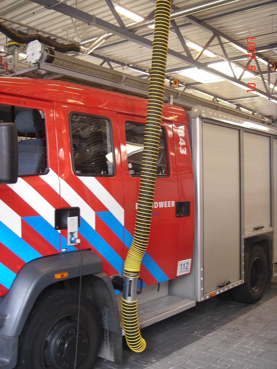 Plaatselijke afzuiging brandweer