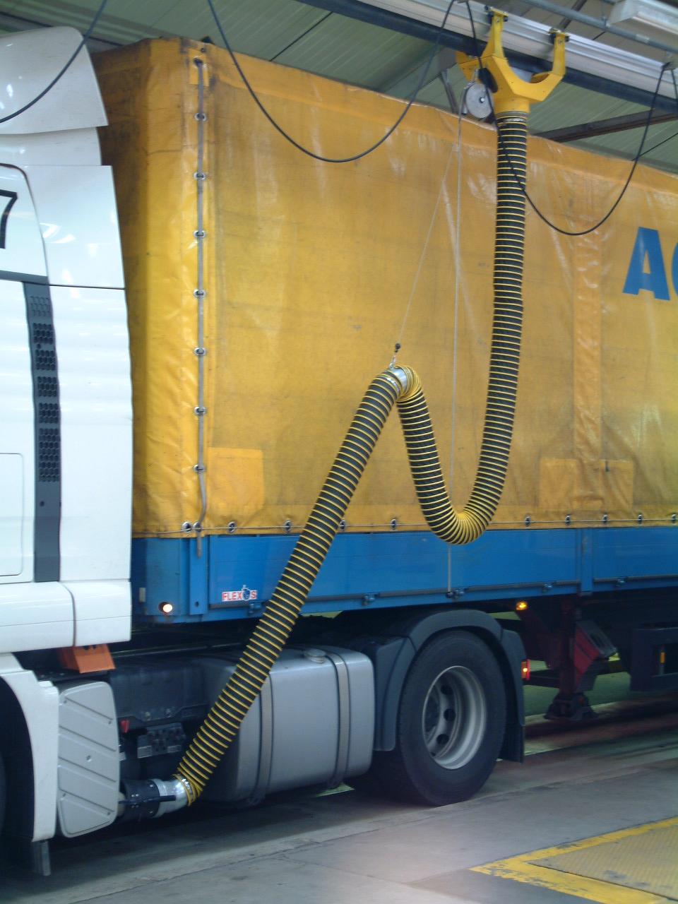 Plaatselijke afzuiging vrachtwagen